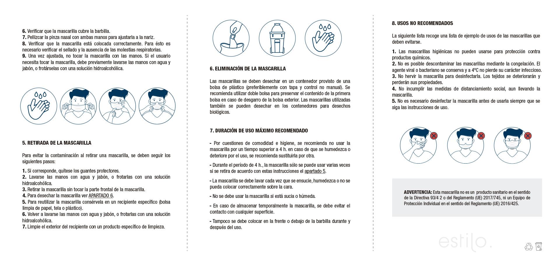 Instrucciones Mascarillas Estilo 2